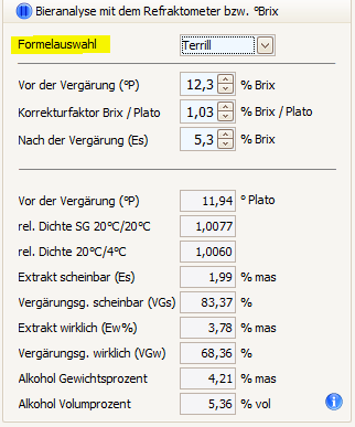 Formelauswahl